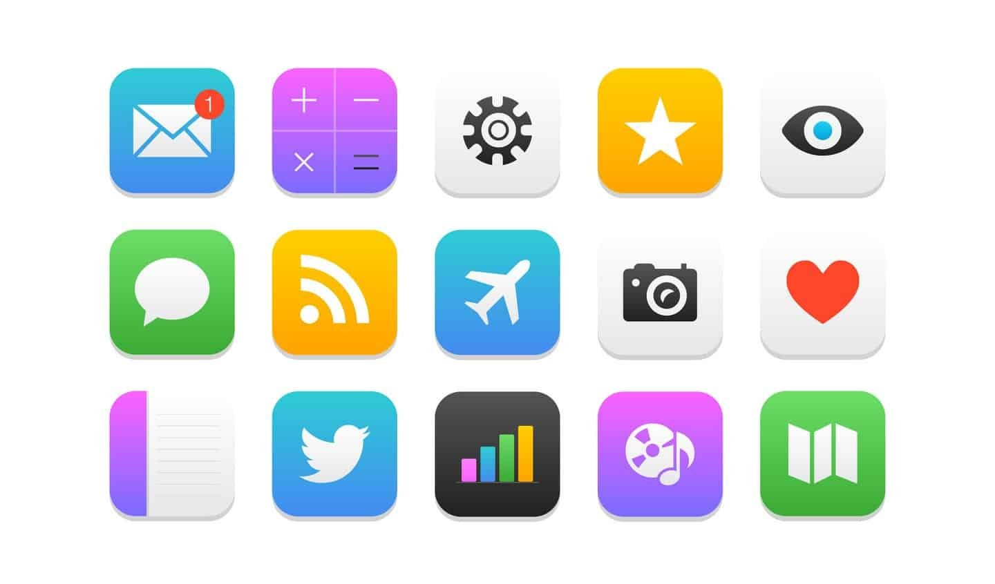 Apple mobile application icons on a screen