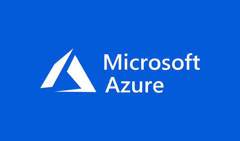 Microsoft Azure cloud computing brand logo