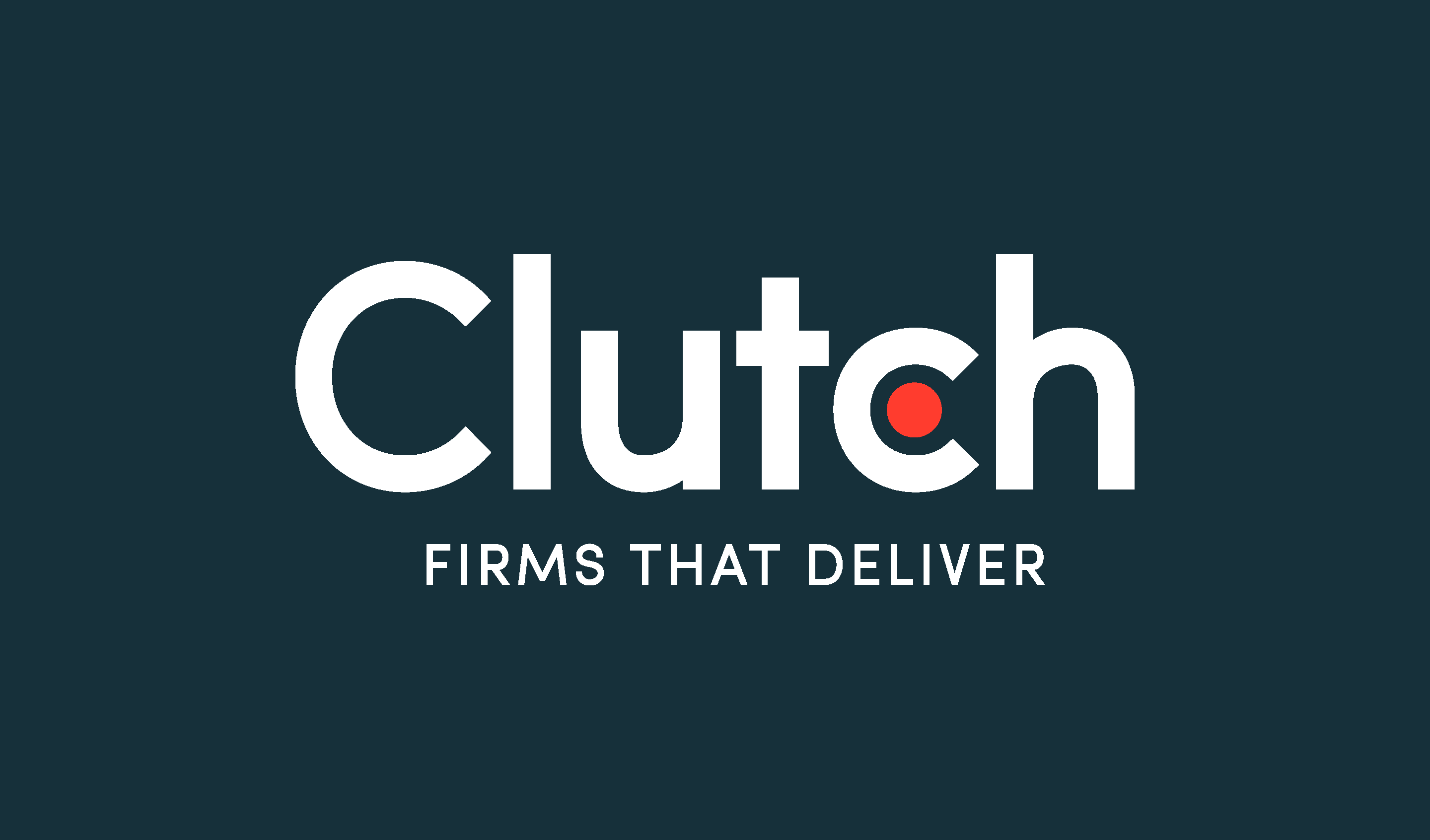 "Clutch.co brand logo above text that reads ""Firms that deliver"""