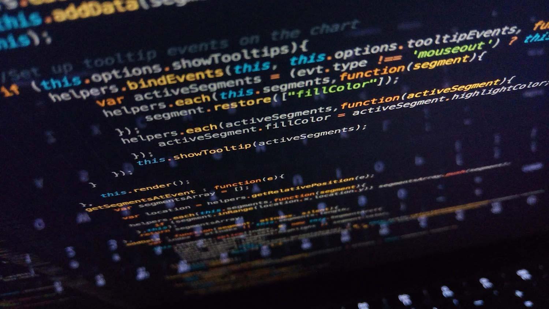 JavaScript code on a screen