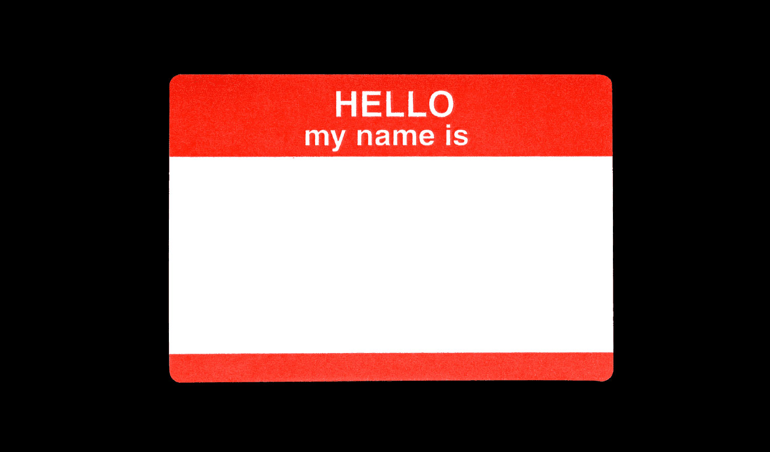 Hello my name is badge for drupal real name connotation