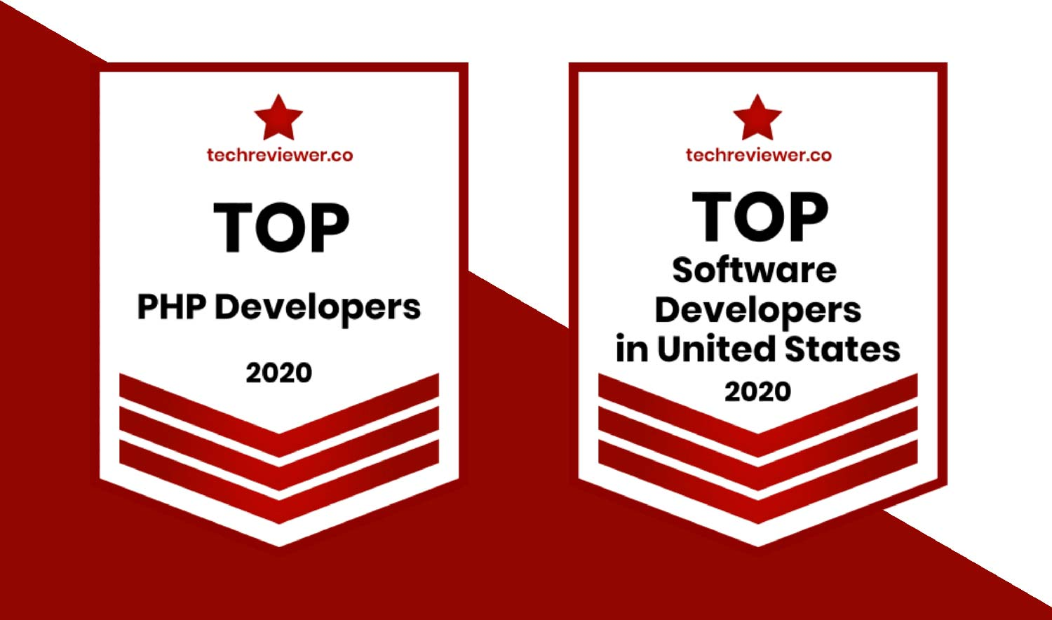 Techreviewer.co-Top Software Development Company in the U.S.and Top PHP Developers 2020 badge