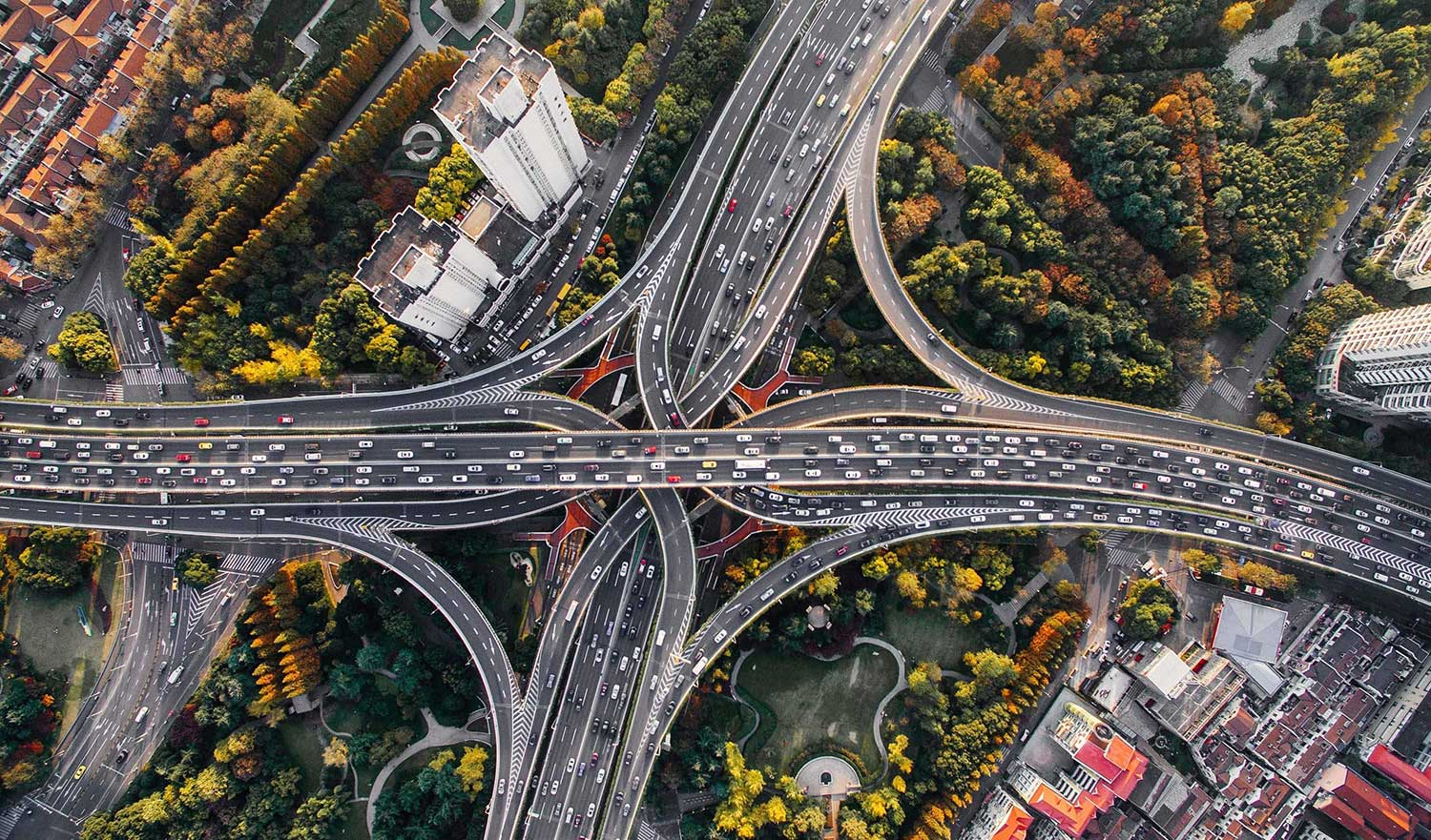 Highway interchanges signifying systems integrations