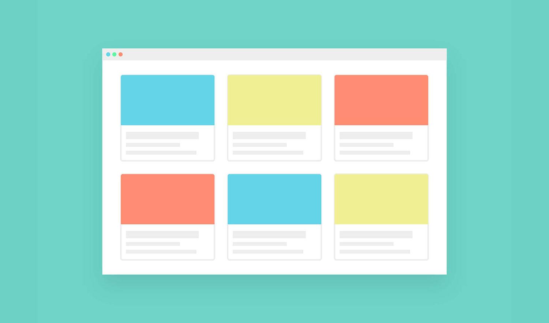 Flat design of website layout