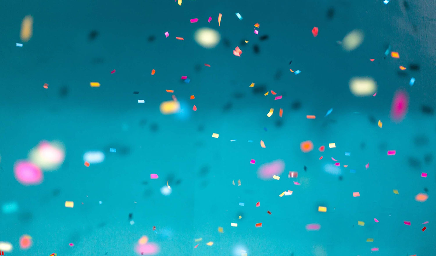 Confetti signifying software product success